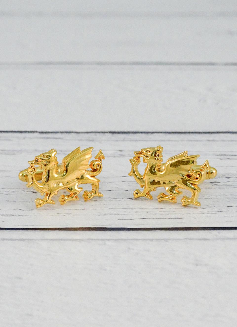 Gold Dragon Plated Cufflinks
