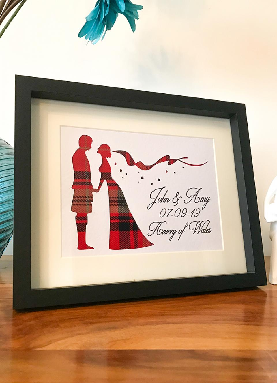 Welsh Tartan Wedding Frame
