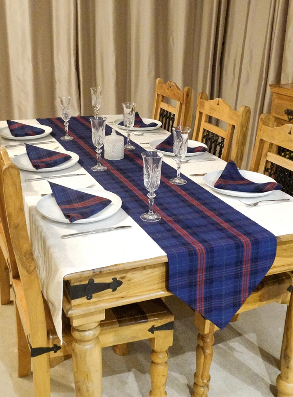Tartan Table Runner & Napkins Set