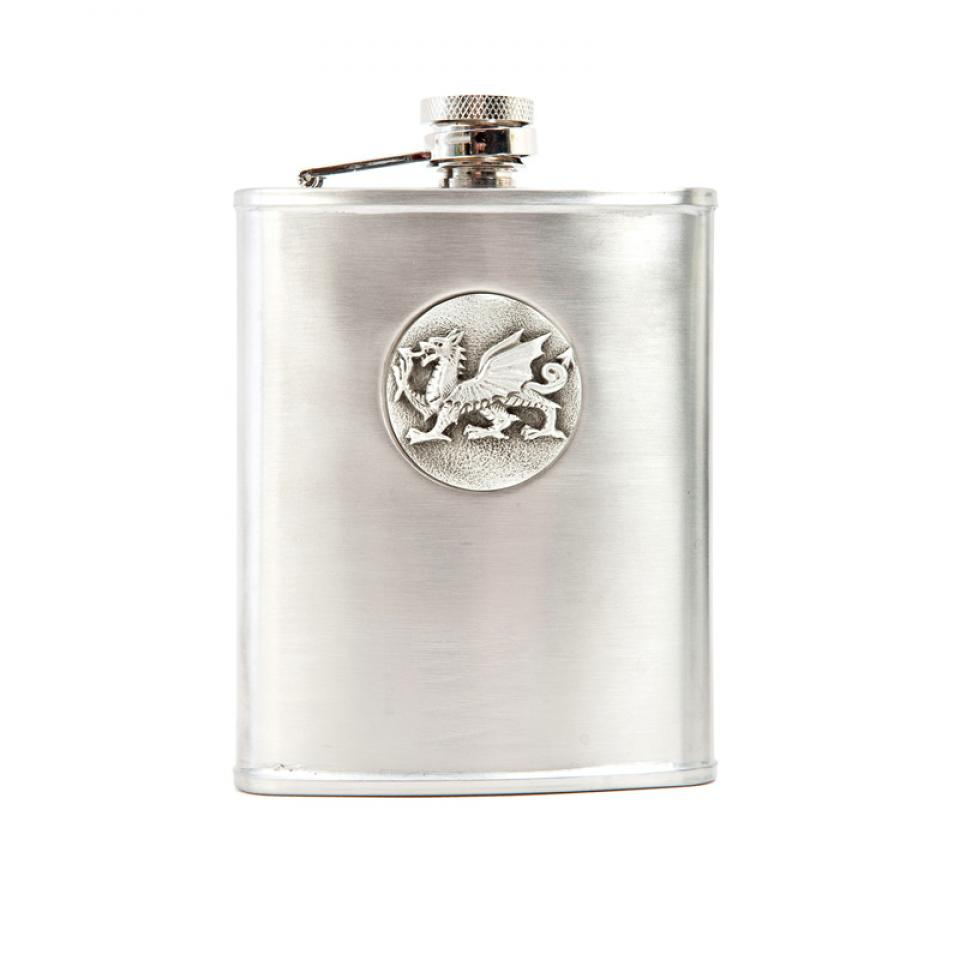 Welsh Dragon Hip Flask
