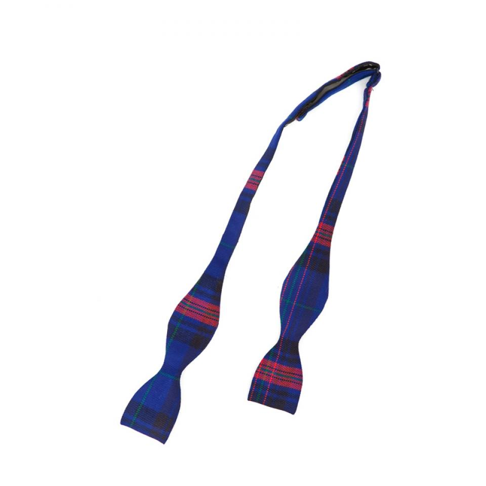 Welsh Tartan Self Bow Tie