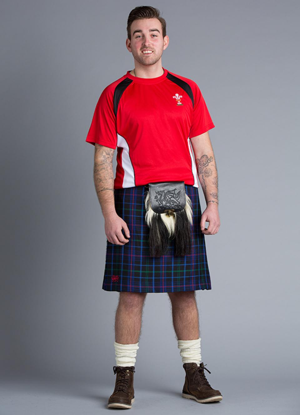 Pride of Wales Rugby Kilt Hire