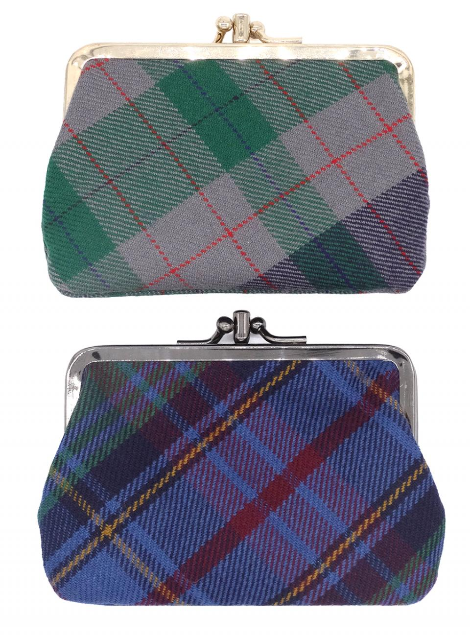 Welsh Tartan Clip Purse