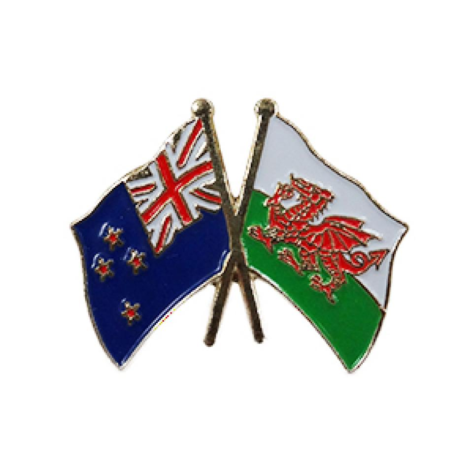 Wales/New Zealand Pin Badge