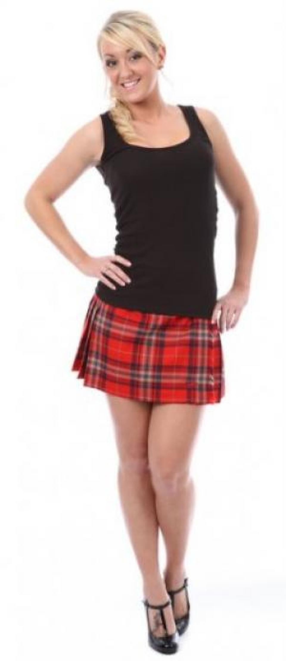 Cool Ladies Tartan Skater Skirt Scottish Check Midi Skirt Nouvelle Womens