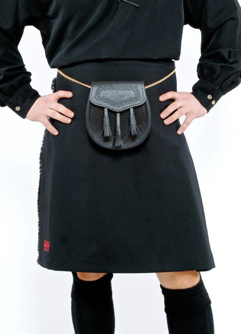 Plain Black Kilt
