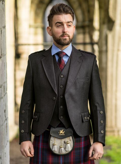 Charcoal Tweed Braemar Jacket & Vest