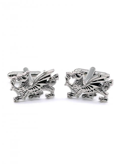 Chrome Dragon Cufflinks