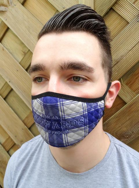 Welsh Tartan Face Mask - Name Edition