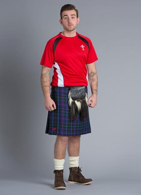 34Wx23L Ex Hire Pride of Wales Dress Kilt