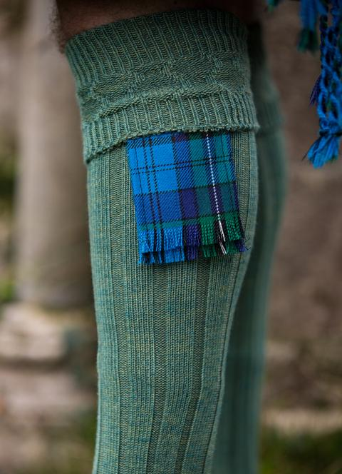 Welsh Tartan Garter Flashes