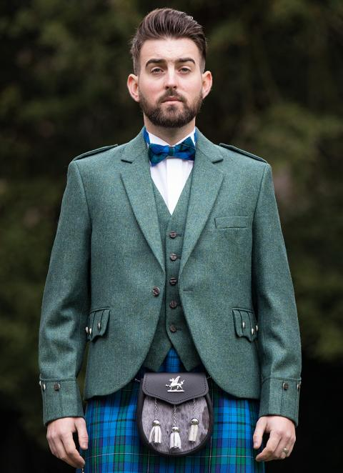 Green Tweed Argyle Jacket & Vest