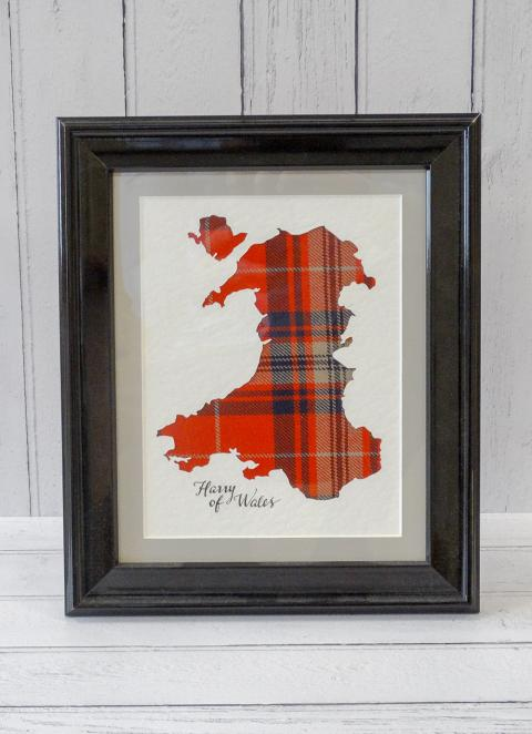 Welsh Tartan Map of Wales