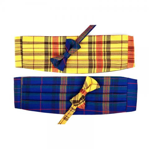 Welsh Tartan Bow Tie & Cummerbund Set