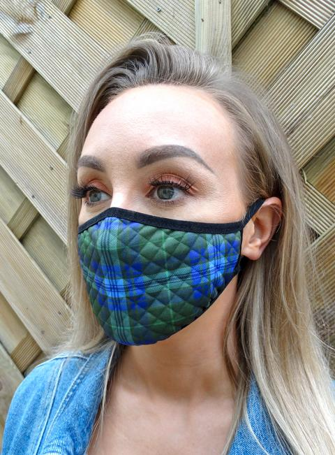 Welsh Tartan Face Mask