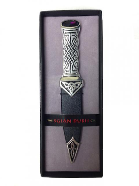 Pewter Handle Sgian Dubh