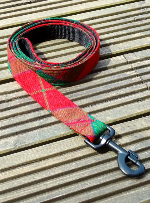 Welsh Tartan Dog Lead