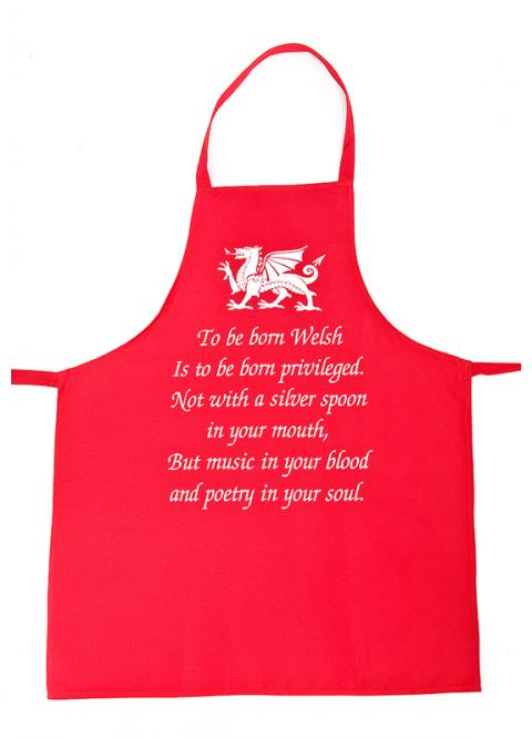 'To Be Born Welsh' Apron