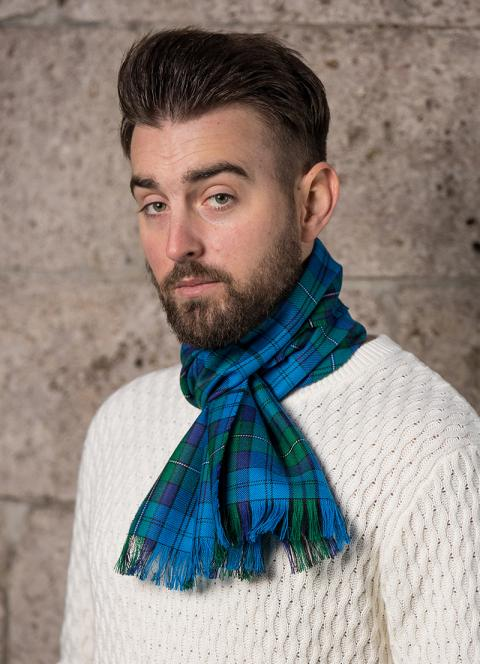 Welsh Tartan Gents Wool Scarf