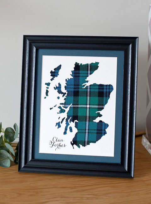 Tartan Map of Scotland
