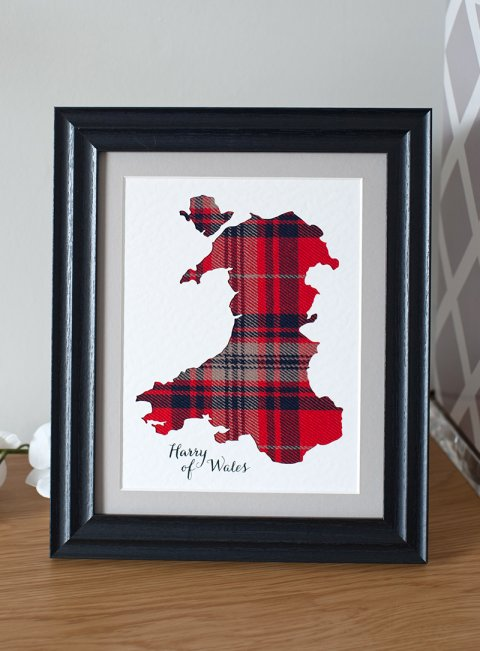 Tartan Map of Wales