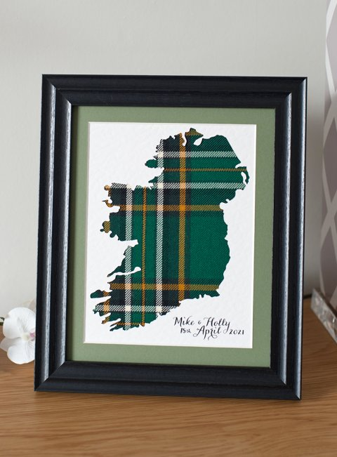 Tartan Map of Ireland