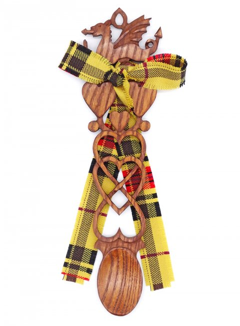 Large Dragon Tartan Lovespoon