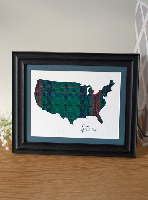 Tartan Map of USA